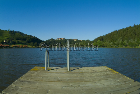 lake with jetty