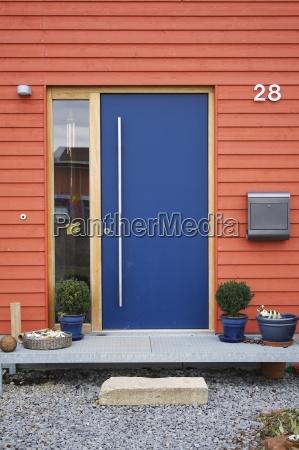 blue, front, door - 318802