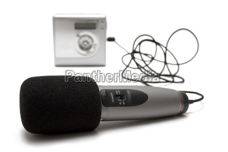 microphone, with, minidisc, recorder - 322669