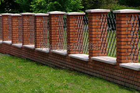 fence from klinkertsteinen