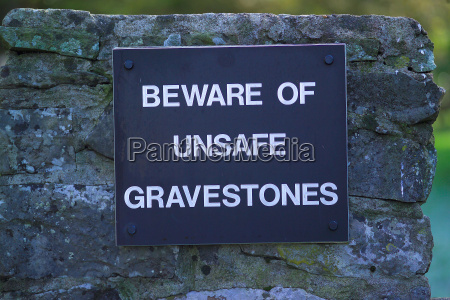 unsafe gravestones