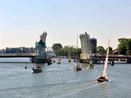 bascule, bridge, in, kappeln - 339639