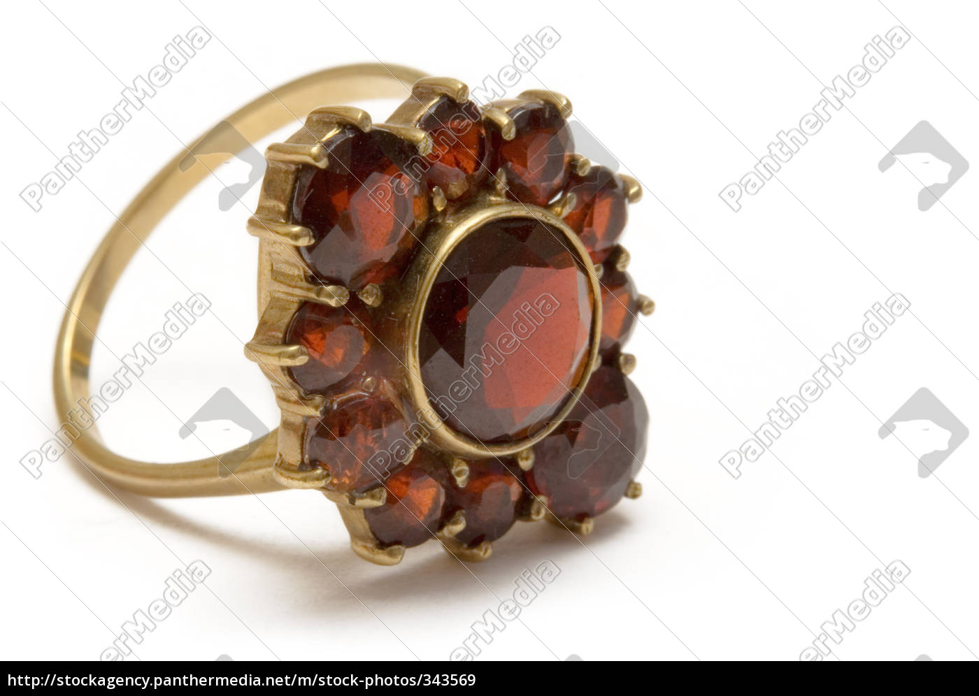 garnet, ring - 343569