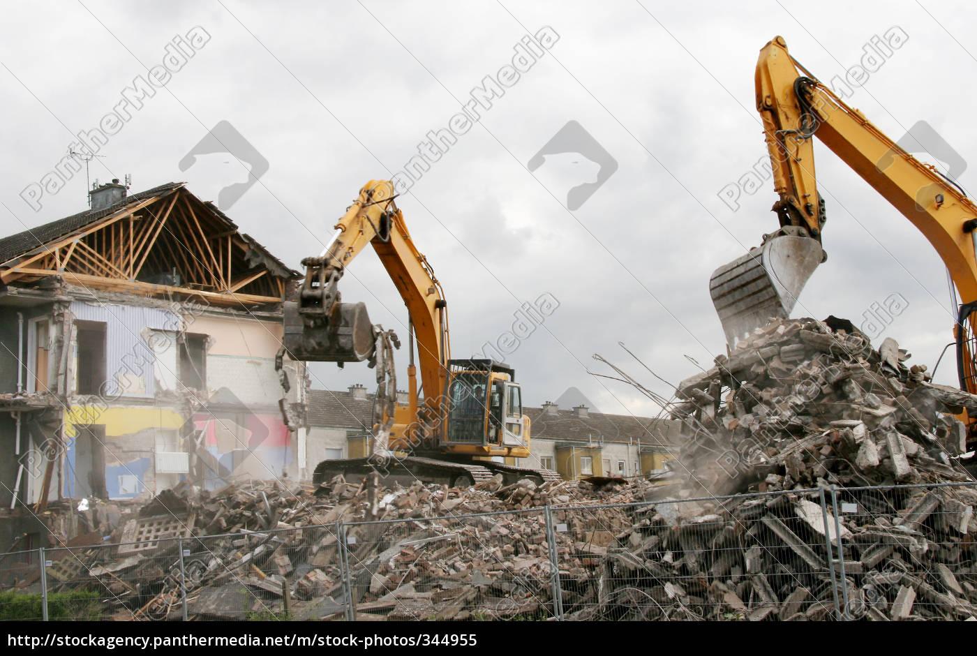 excavator, on, demolition, 1 - 344955