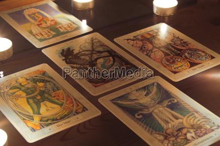esoteric, tarot, cards, candlelight - 360517