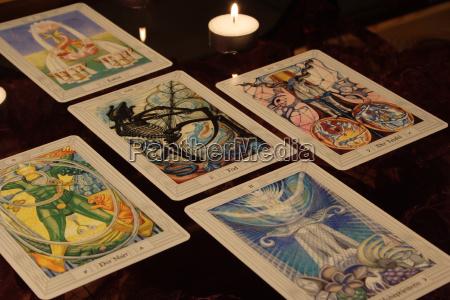 esoteric, tarot, cards, candlelight - 360522