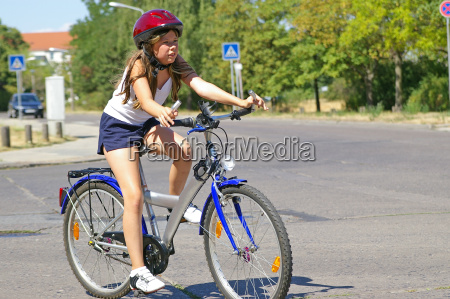 girl, with, bicycle - 362677