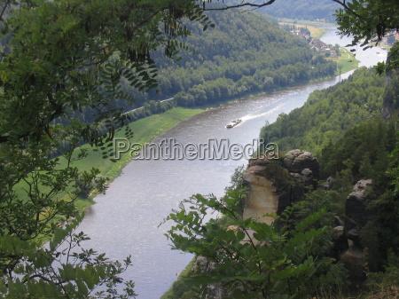 saxony elbe bastion river water flussverlauf