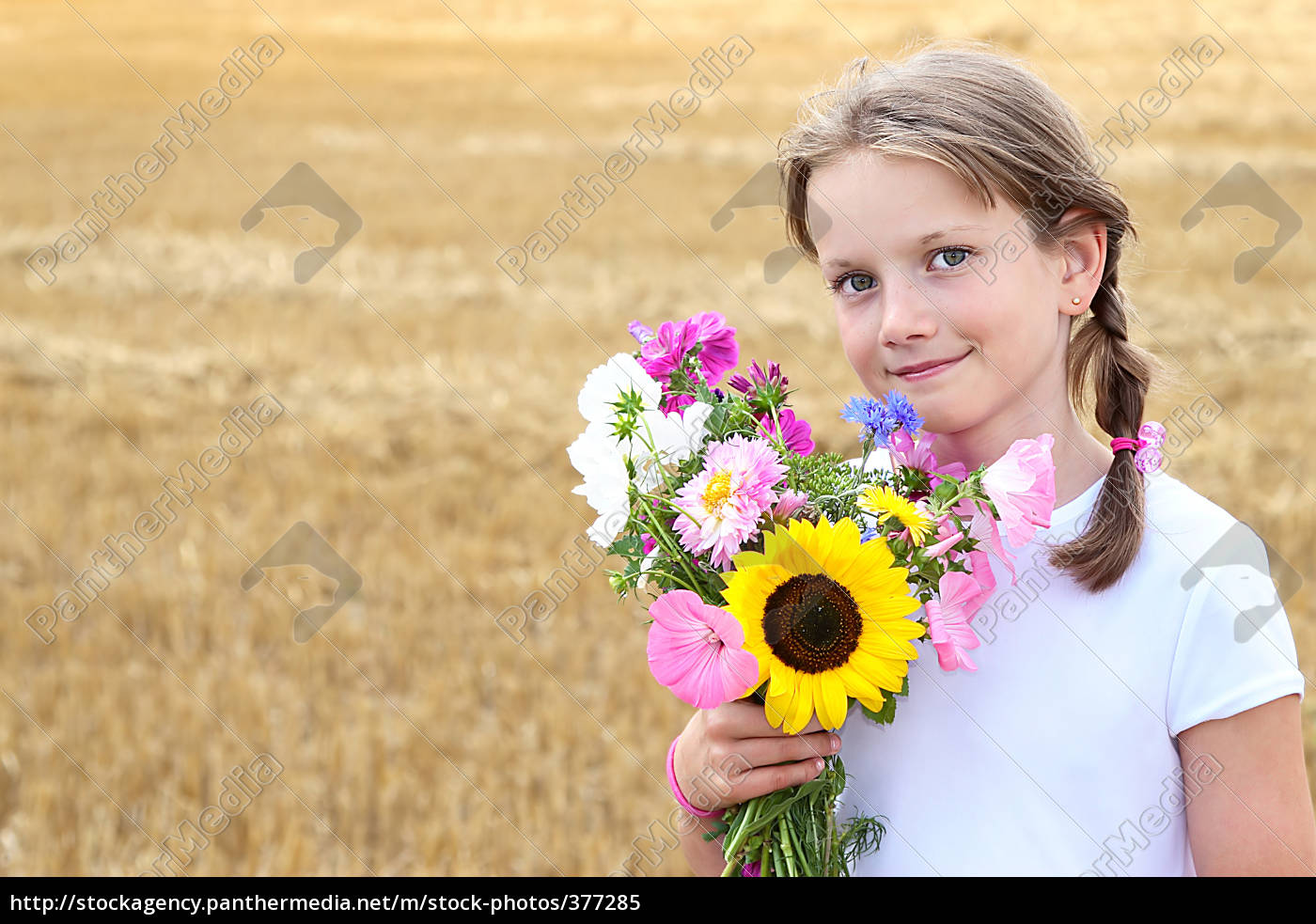 child, with, flowers, no.2 - 377285