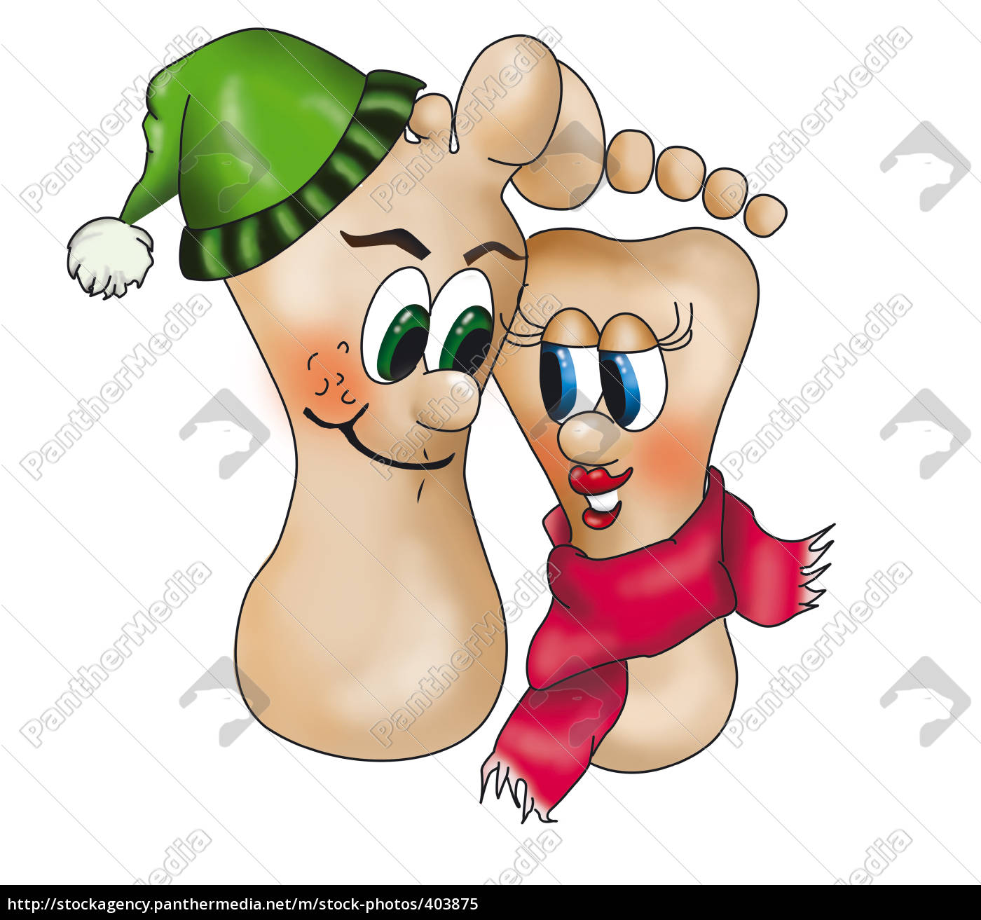 feet, with, scarf, and, hat - 403875