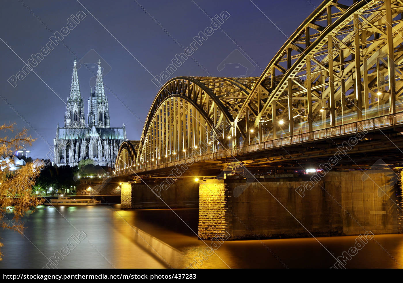 cologne, cathedral, and, hohenzollern, bridge - 437283