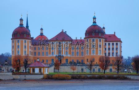 moritzburg castle in autumn
