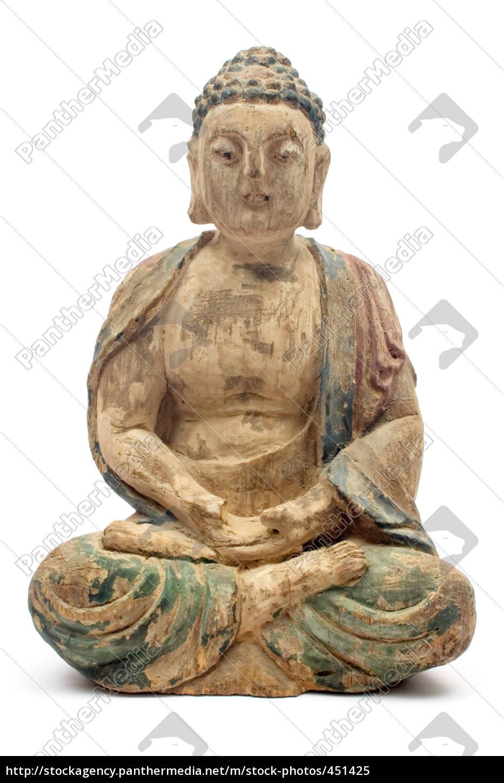 antique, wooden, buddha - 451425