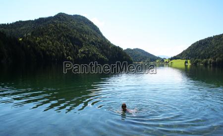 swimmer in hintersteiner see