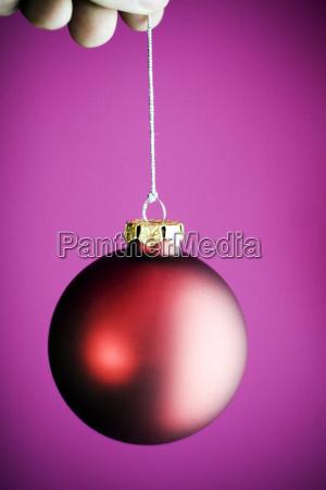 christmas, ball, red - 460495