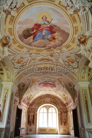 castle rosenau ceiling fresco