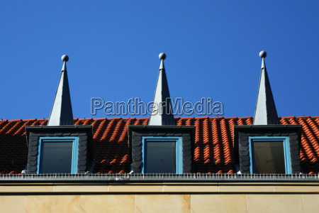 three hats on the roof