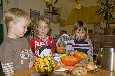 cooking, a, pumpkin, soup - 468584