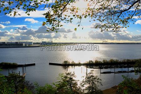 dinghy, harbor, mühleberg, backlit - 471975