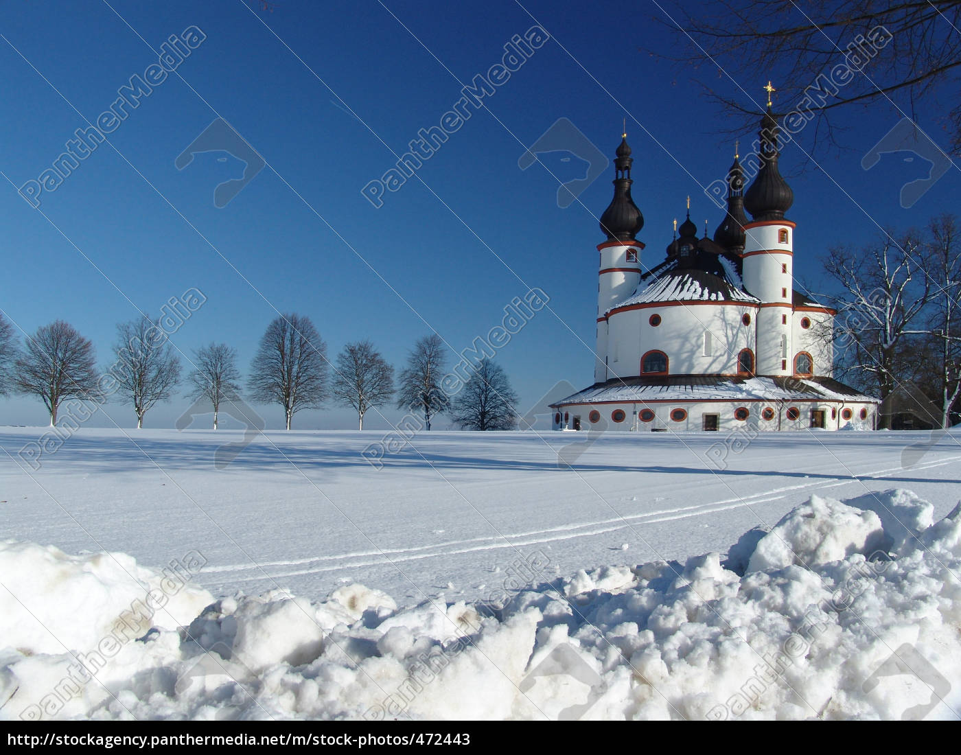 church, in, snow - 472443