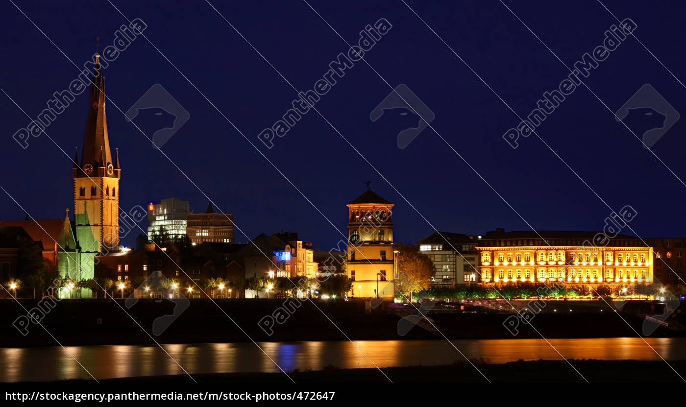 rhine, promenade, at, night - 472647
