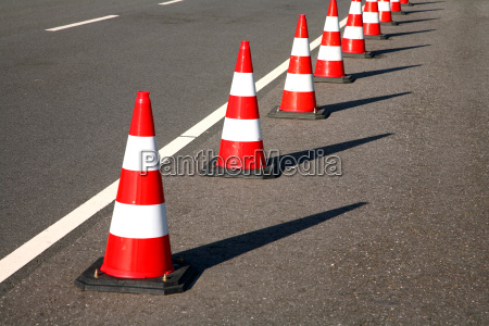 cone as a road barrier