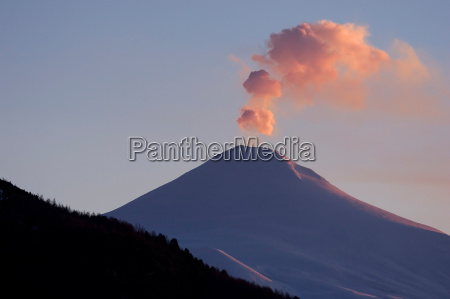 volcano villarica sunset