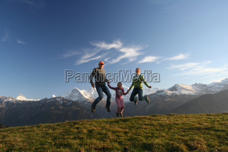 happy, family, jumping - 492010