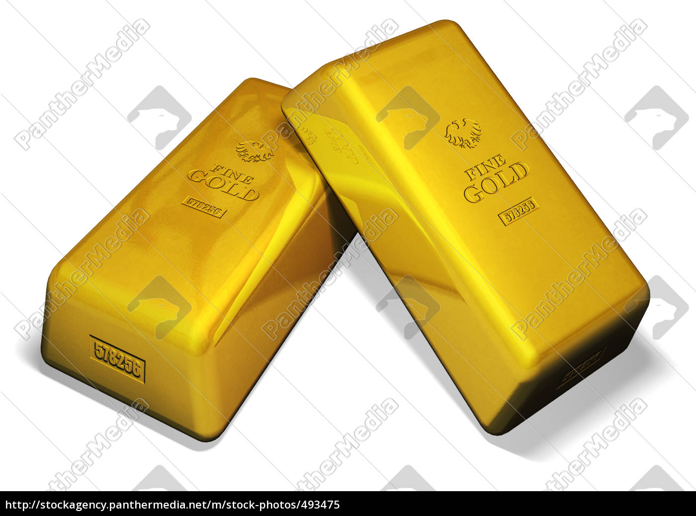 two, gold, bars - 493475