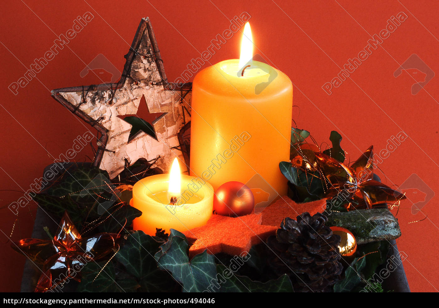 two, orange, candles - 494046