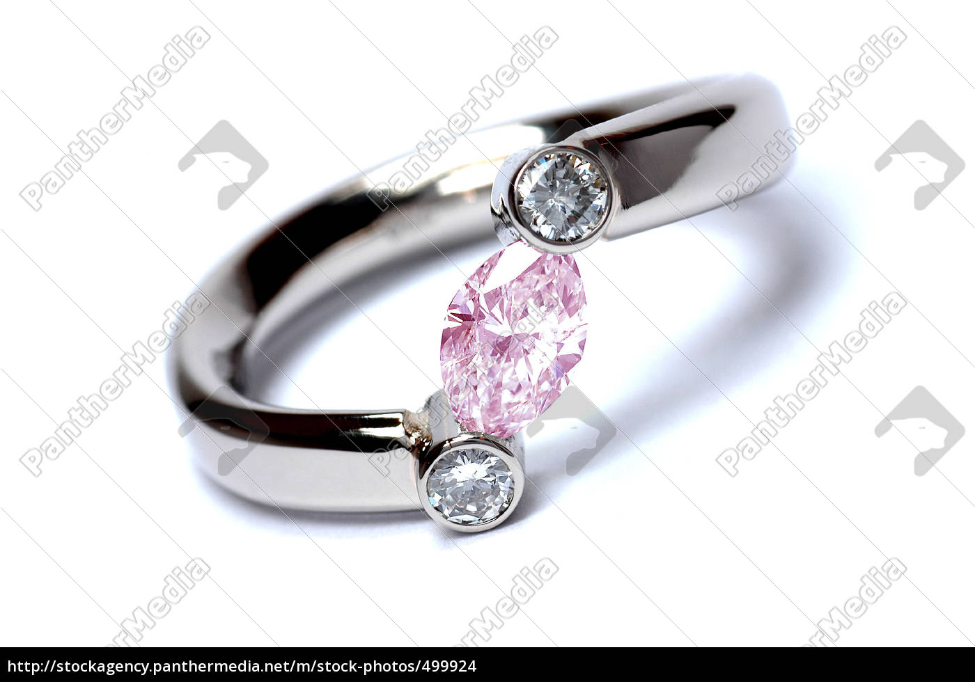 diamond, pink, navette - 499924