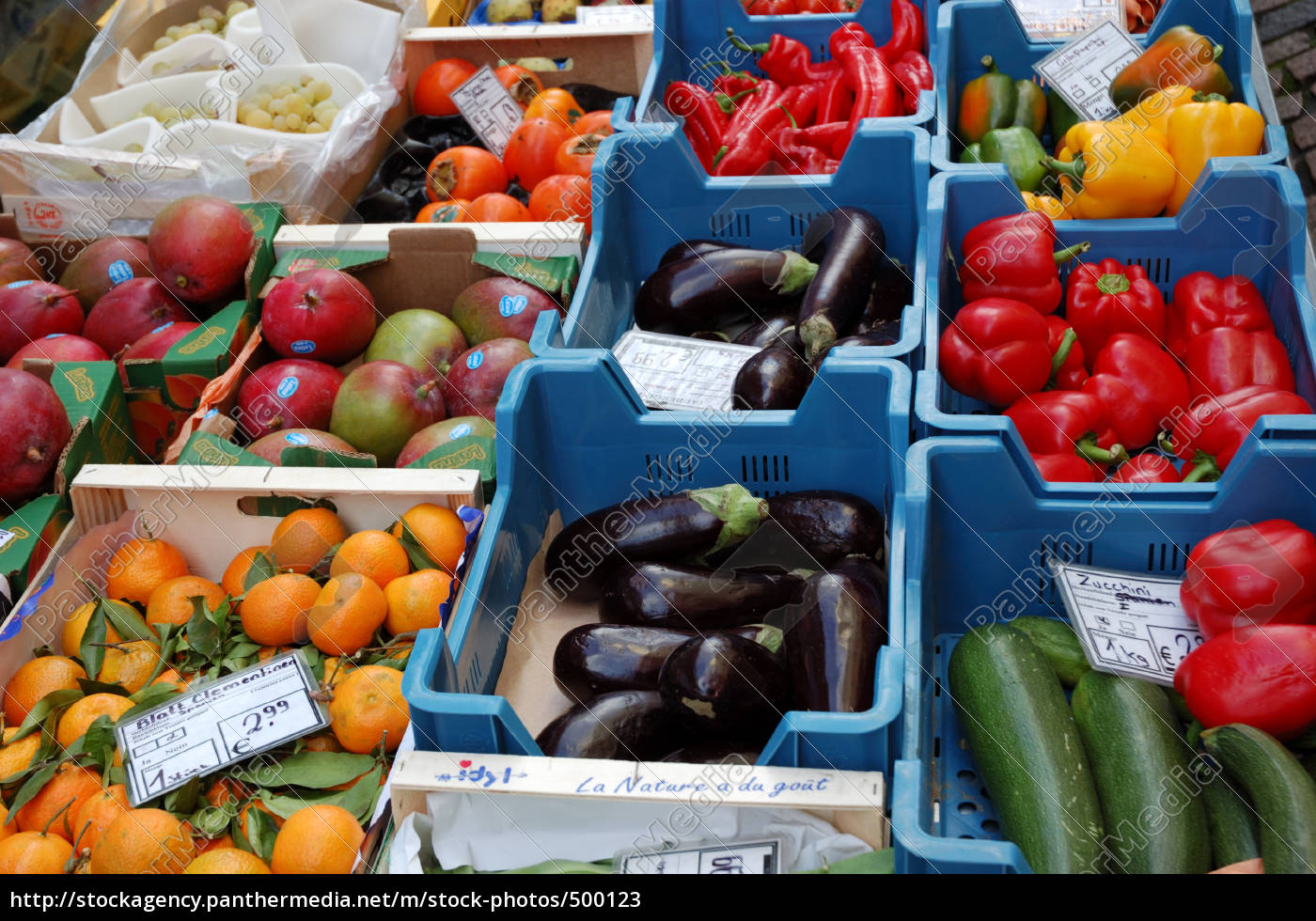 vegetable, selection, at, weekly, market - 500123