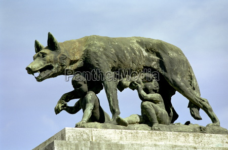roman, wolf, with, remus, and, romulus - 503035