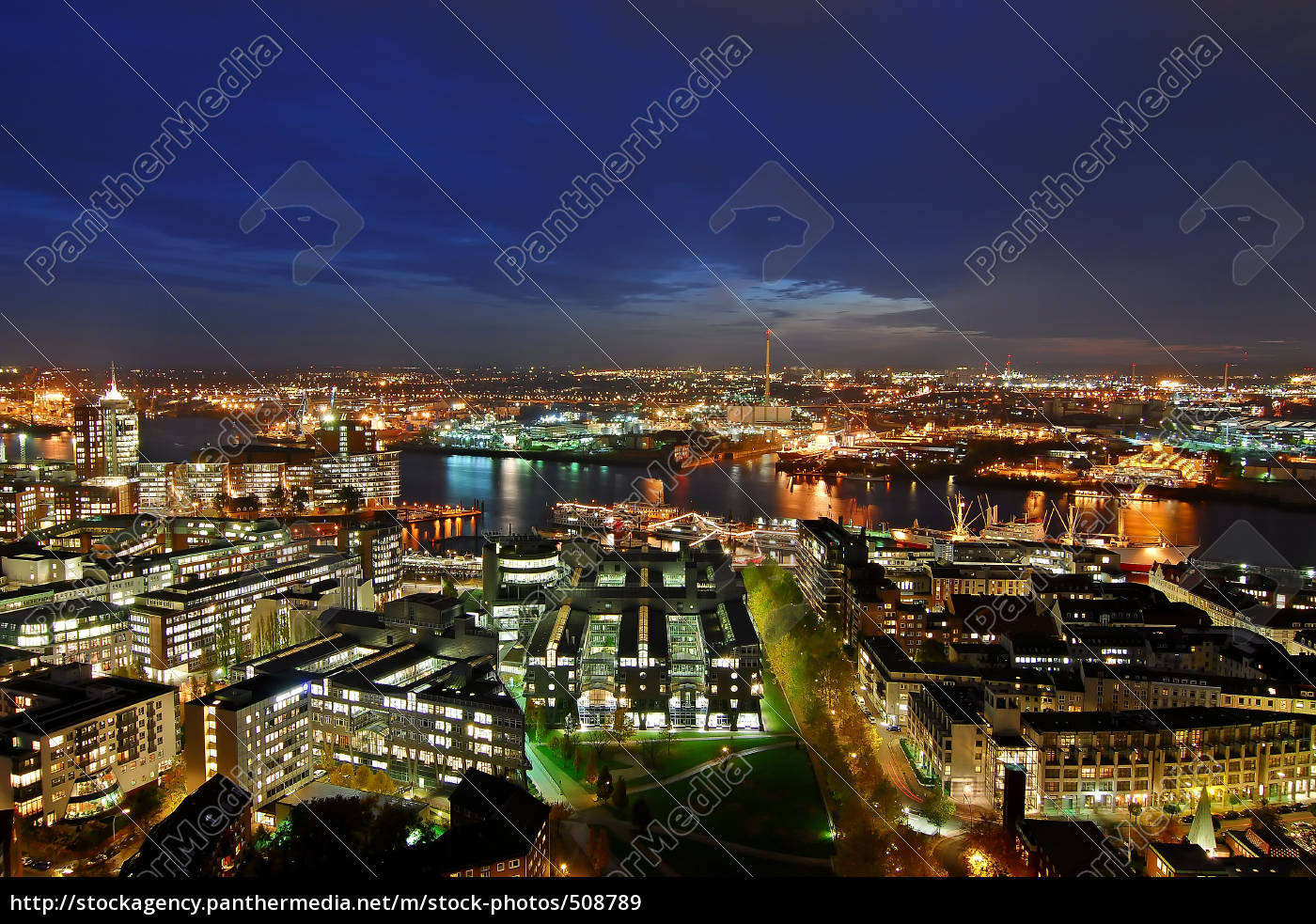 hamburg, at, night, 1 - 508789