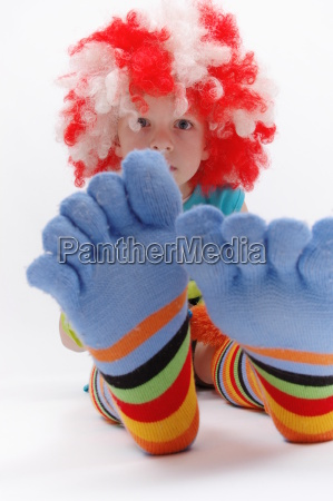 colored feet