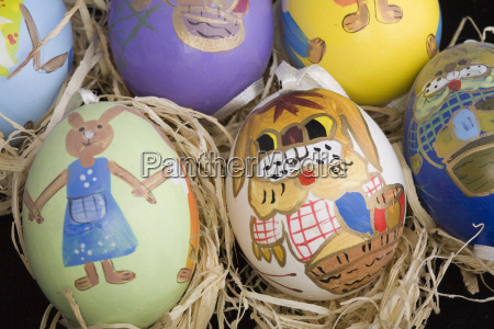 painted, easter, eggs - 523644