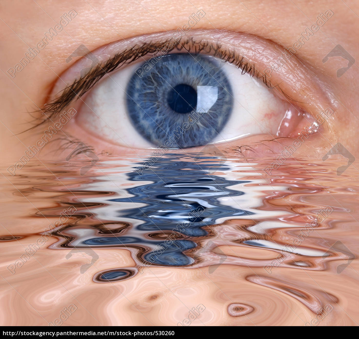 eye, reflected, in, water - 530260