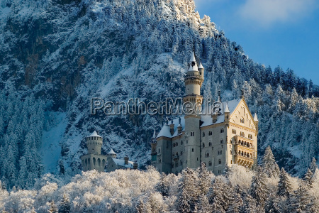 neuschwanstein, in, winter - 533674