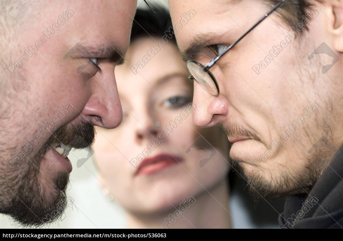 two, men, courting, a, woman - 536063