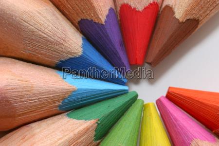 colored, pencils, macro - 541476