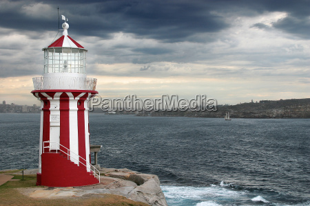 lighthouse, on, the, sea, overlooking, bay - 543595