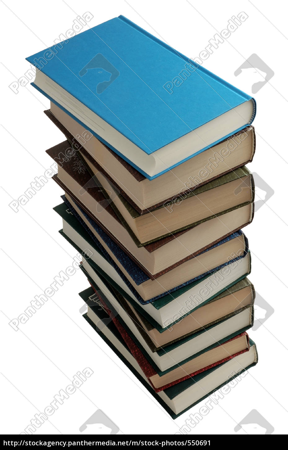 books, stack, with, clipping, path - 550691