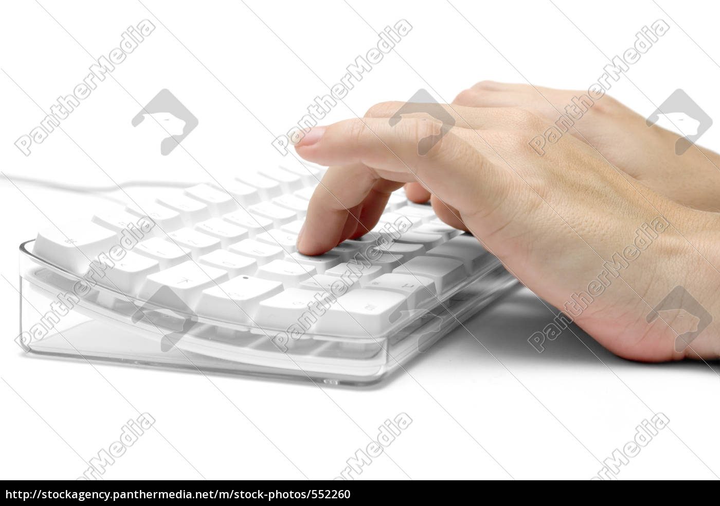 hands, on, white, computer, keyboard - 552260