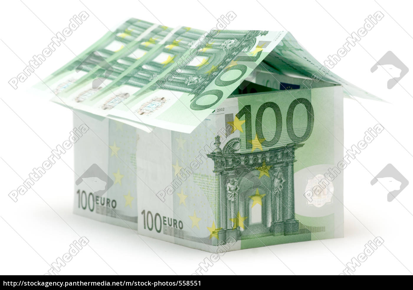 100, euro, house - 558551