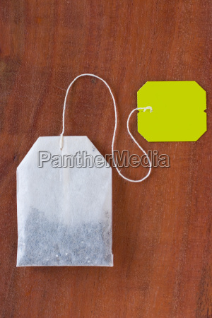 tea, bag, on, wooden, table - 560540