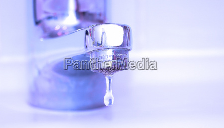 water tap with drops