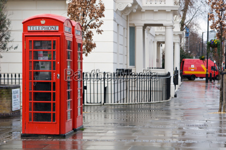 typical english telephone box