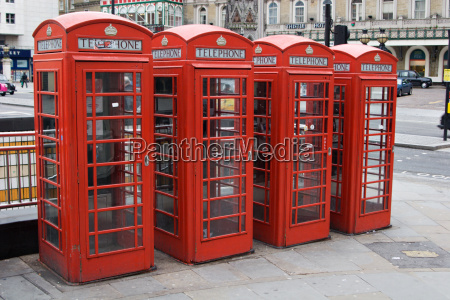 red, english, telephone, booths - 565545