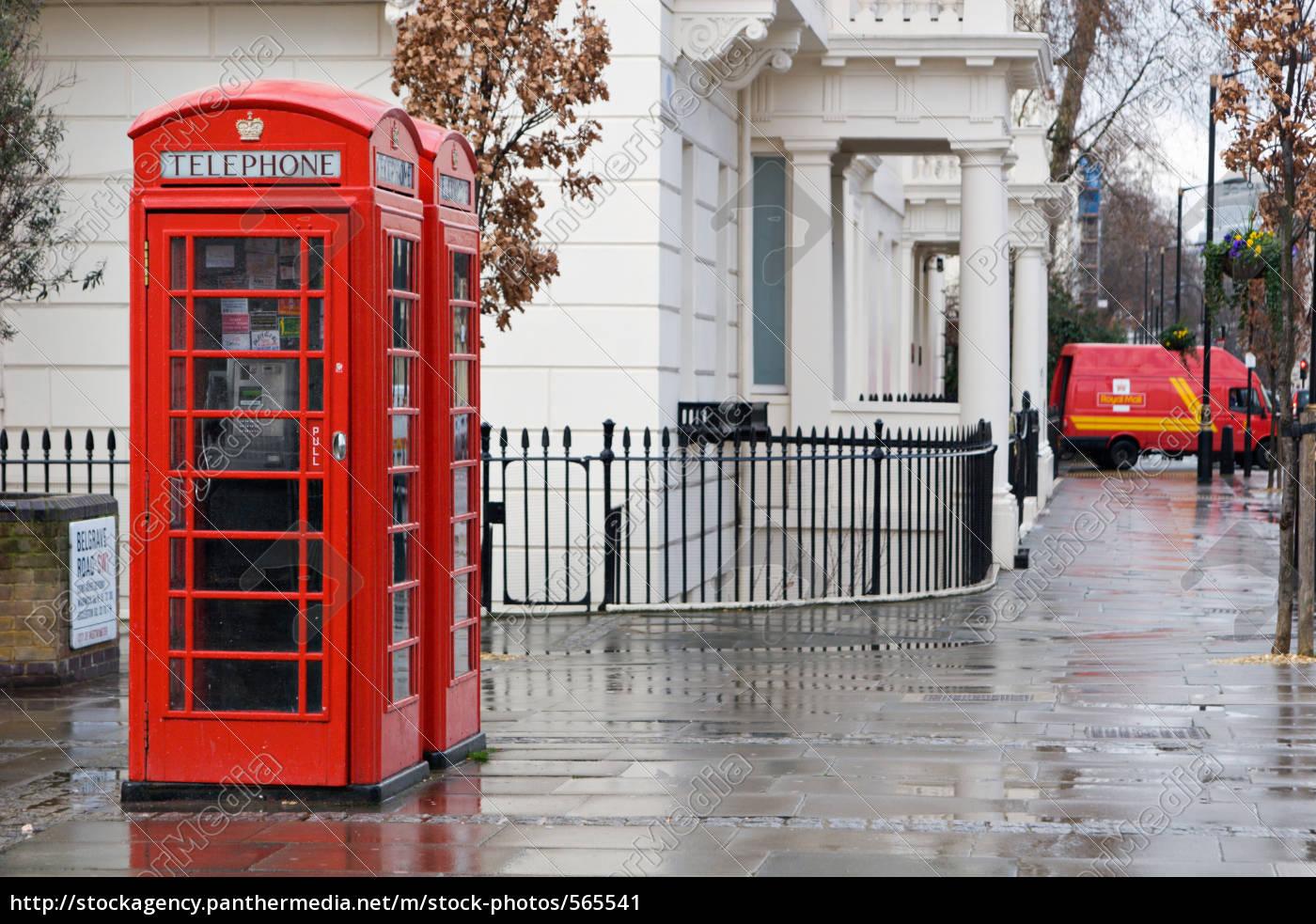 typical, english, telephone, box - 565541