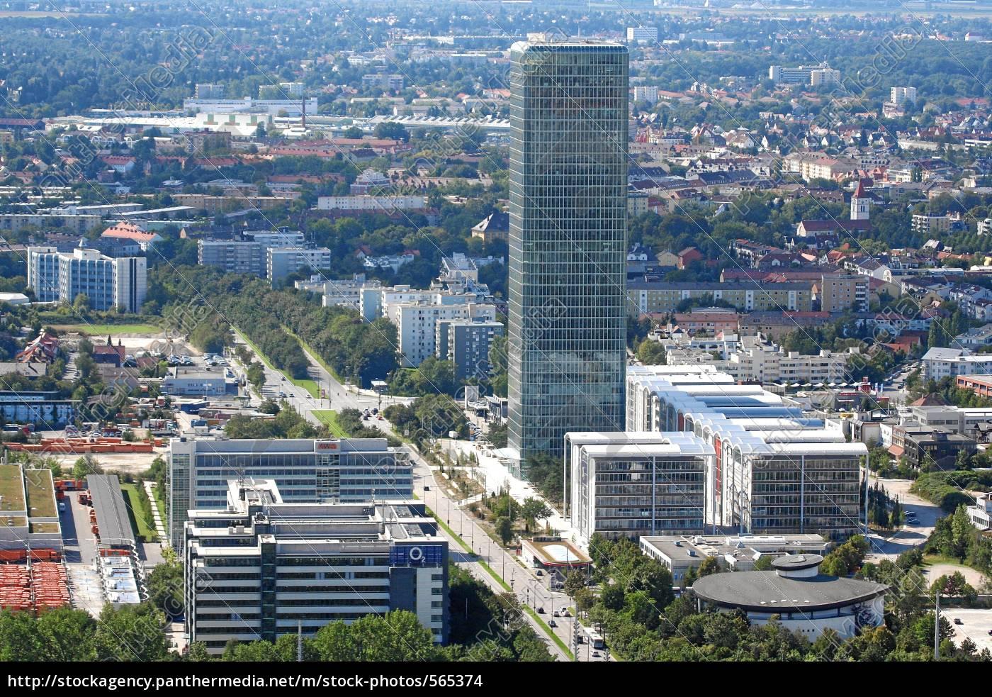 uptown, munich, hochhaus - 565374